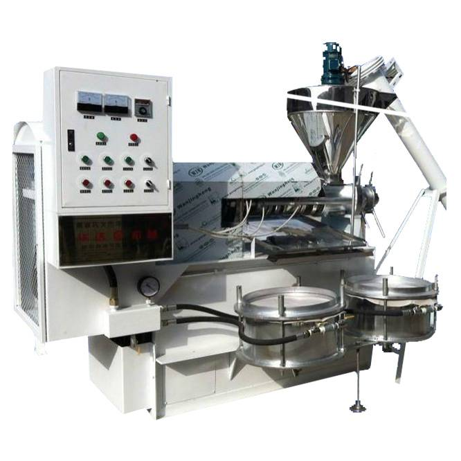 Hot and cold sunflower oil press