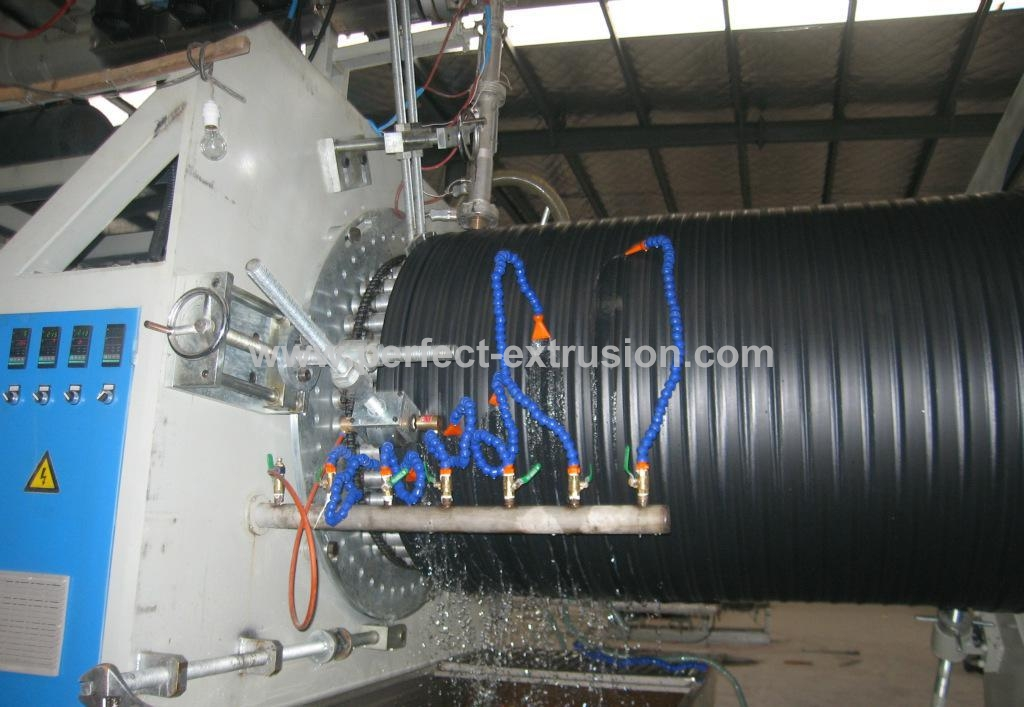 1500-3000mm HDPE Huge Diameter Hollowness Wall Spiral Pipe product Line/ Large Pipe Extrusion Line