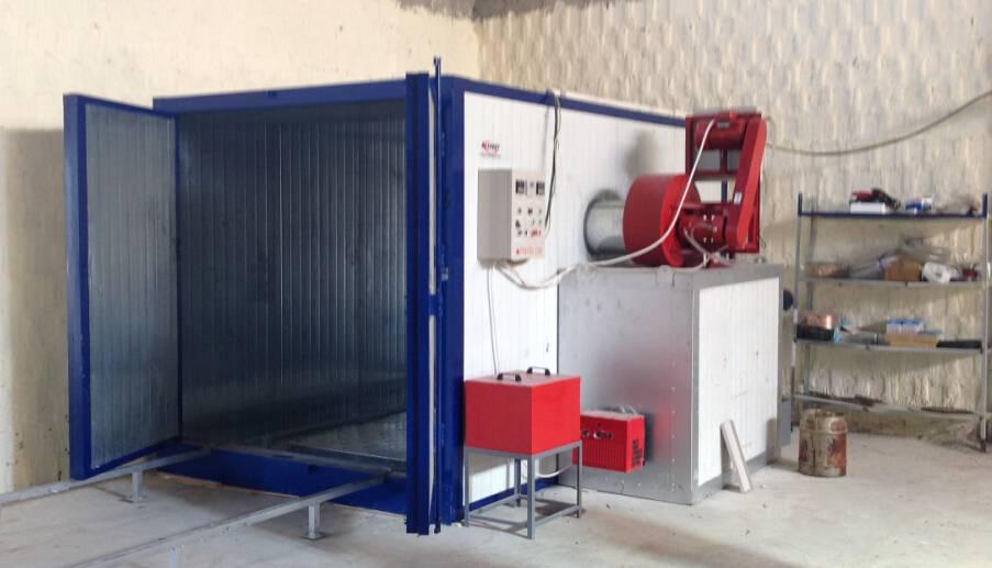 powder curing oven diesel burner