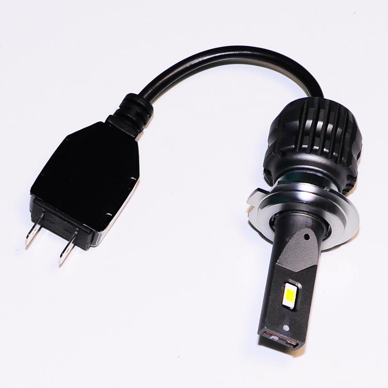 EXONTEK Fanless S30 high power 50W LED Headlight Bulb H7 Auto Headlamp