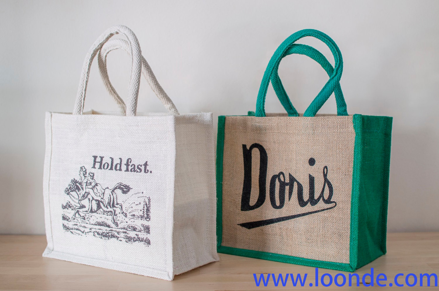 Jute Shopping Bag. Small Jute Bag. Jute Bag With Motto. Doris Bag. Hold Fast Bag. Shopping Tote. Sto