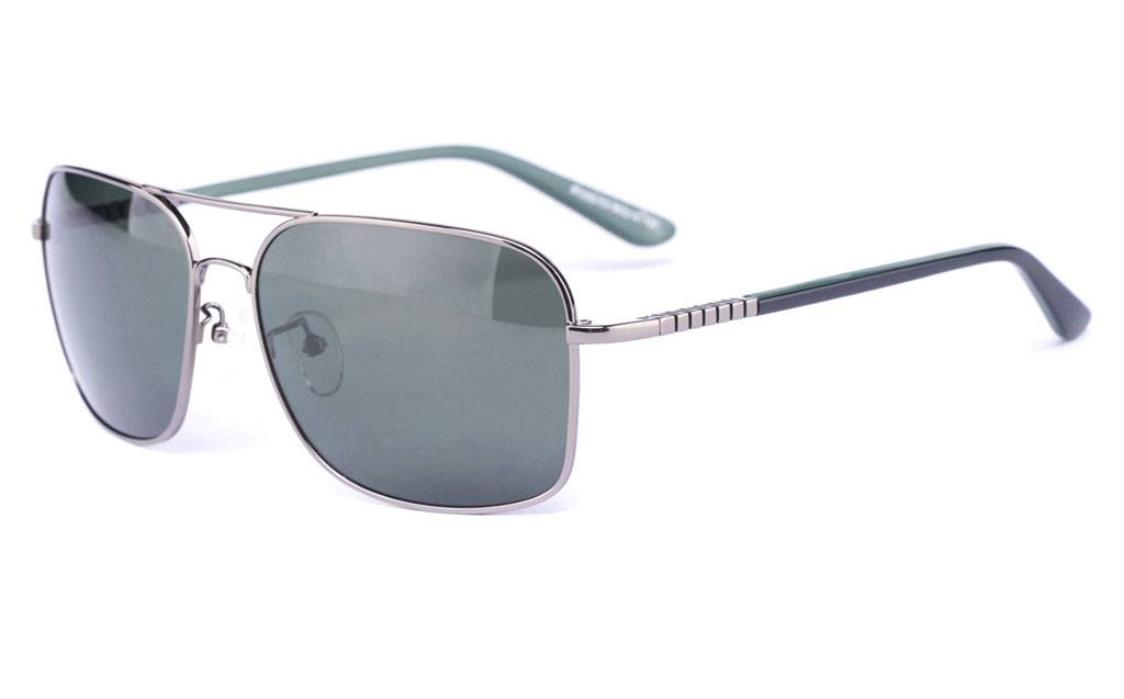 Gun P1333 Full Rim Square Metal-Stainless Steel Glasses
