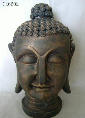 Poly resin buddha head