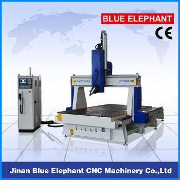 ELE 1530 wood 4 axis cnc router , 4th axes rotary machine, 3d sculpture cnc router for EPS foam, mou
