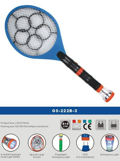 led torch mosquito swatter
