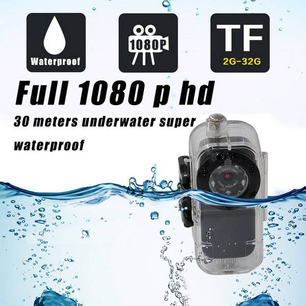 S1 Full HD 1080P 5 IR Mini DV night vision Thumb Video Hidden Sports DV,waterproof Sport DV with wat