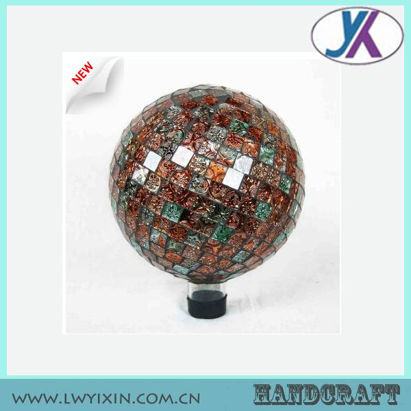10' hollow outdoor mosaic garden lighting glass globe