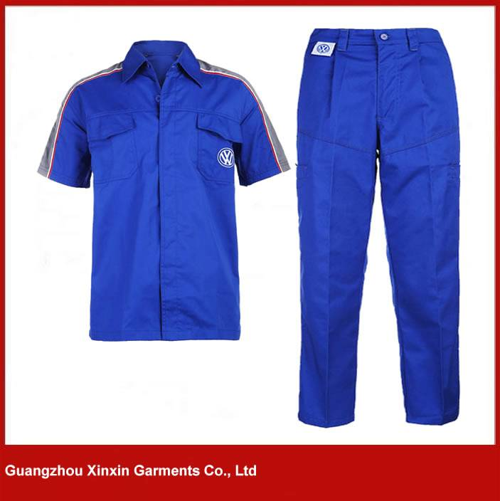 custom work uniform blue cotton coverall for men