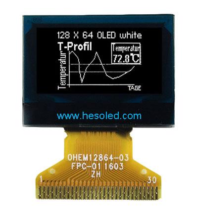 0.96 inch OLED Display 128×64 PMOLED Module White Blue