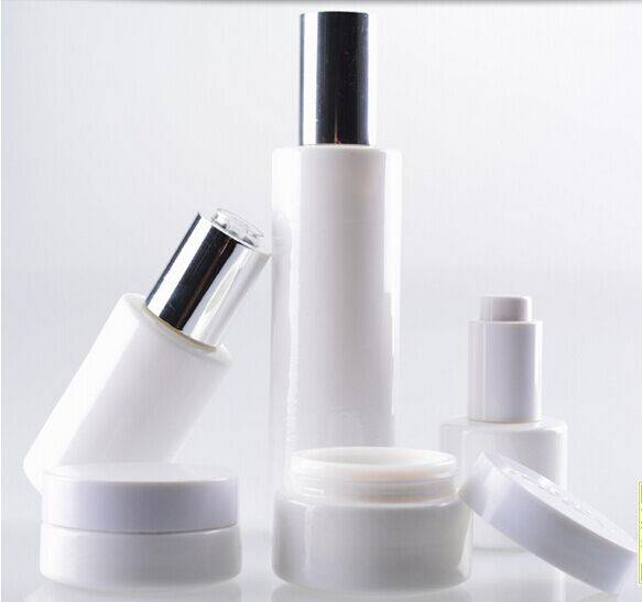 lotion bottle cosmetics packing with pump sprayer