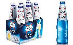 Kronenbourg 1664 blanc beer in blue 25cl, 33cl bottles