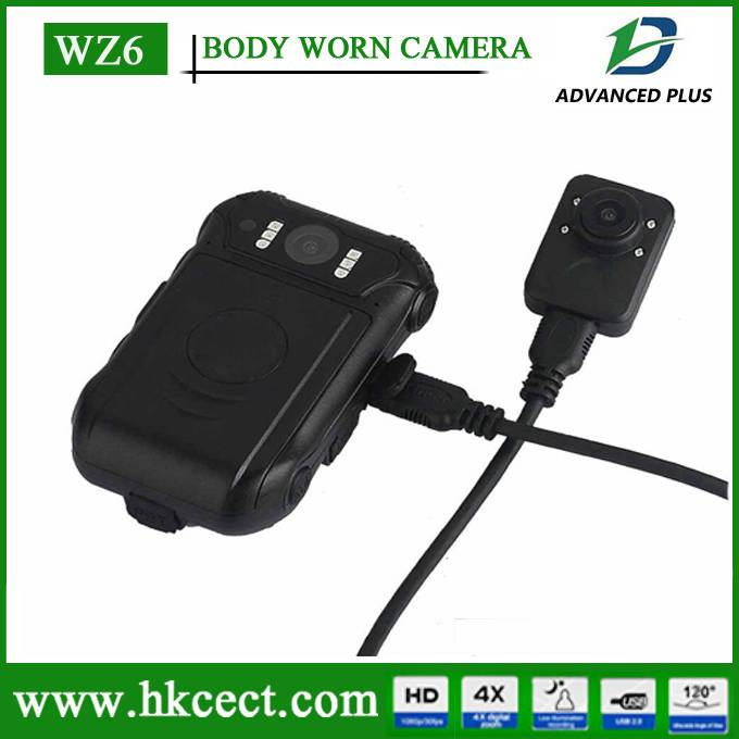 GPS Mini body worn video Camera Waterproof Police Hidden DVR WZ6 HD1080P Night Vision Anti-Fog Laser