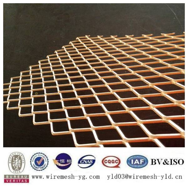 diamond hole expanded copper mesh china supplier
