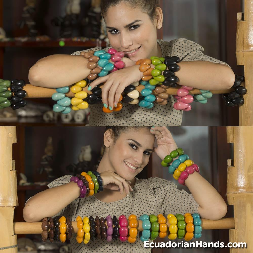 Tagua Bracelets (ASSORTED) Wholesale Tagua Jewelry Handmade EcoIvory