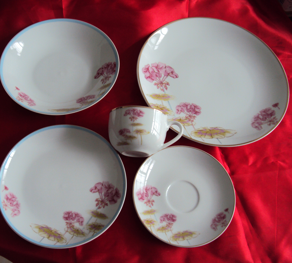 fine printing porcelain dinner set