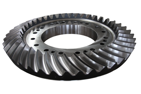 bevel gear of Vertical mill reducer used in Mining industry, heavy transmission bevel gear, bevel ge