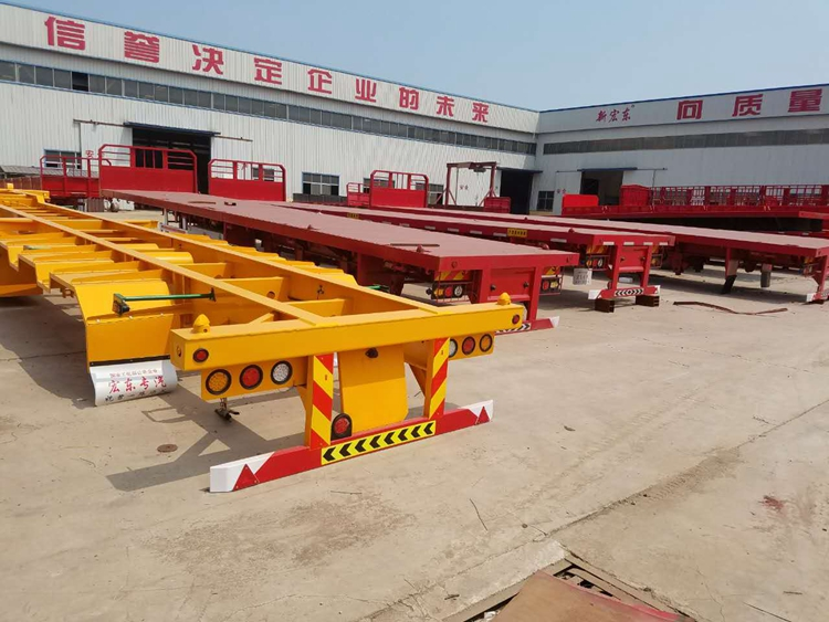 30 -60Tons skeleton container semi-trailer