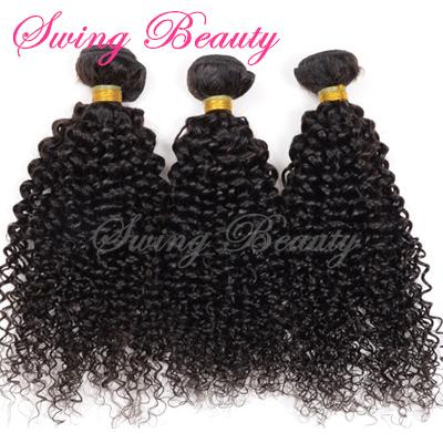Tangle Free Natural Human Hair Weaving Extension Weft NO Chemical NO Shedding