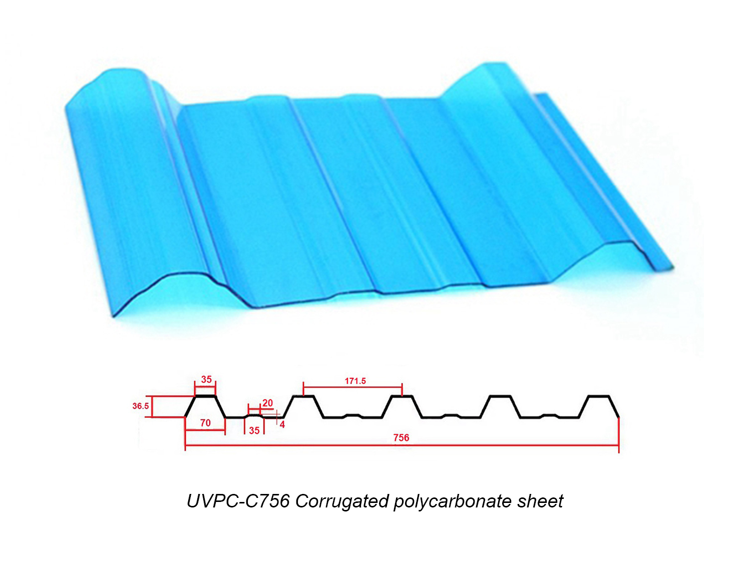 Supply Corrugated Polycarbonate Sheets
