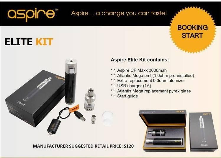 Aspire Elite Kit CF Maxx 50w Mod Kit and Atlantis Mega 5ml Tank Aspire Elite Kit