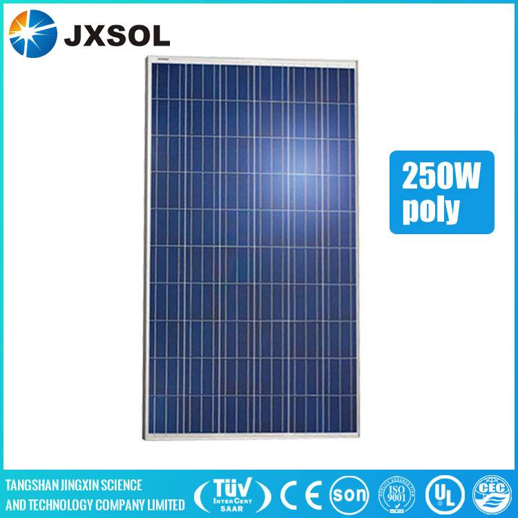 High efficiency popular 250W poly solar panel with competitive price