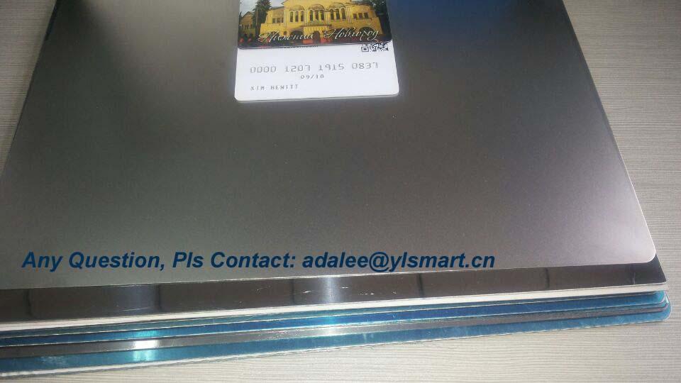 Matte Finish Card Lamination Steel Plate YSP-M