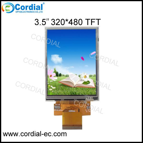 3.5 inch 320x480 TFT LCD MODULE CT035BJL19, optional with resistive and capacitive touchscreen