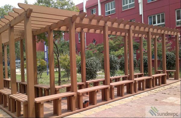 Landscape Contruction WPC Pergola