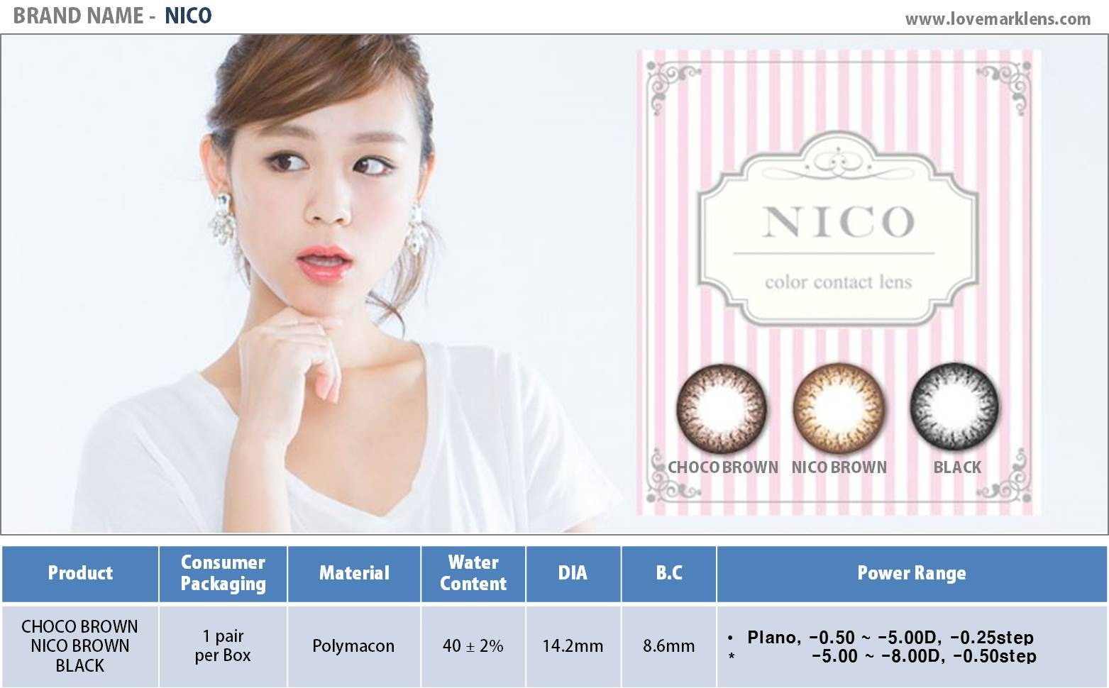 NICO Color Contact Lens