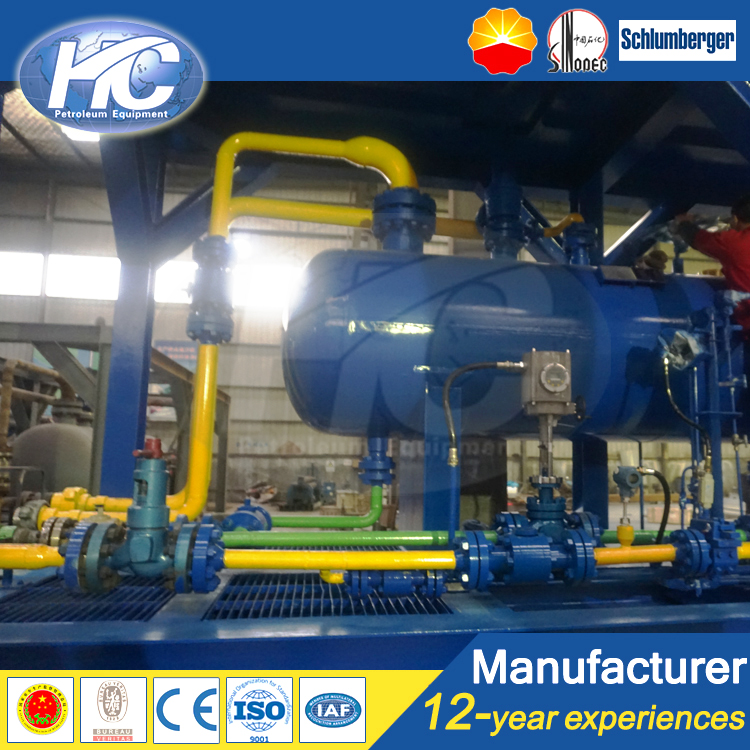Automatic discharge 3 phase separator/three phase separator