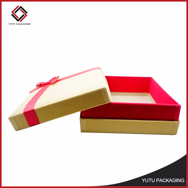 Hot sale bow tie packaging book shaped gift box