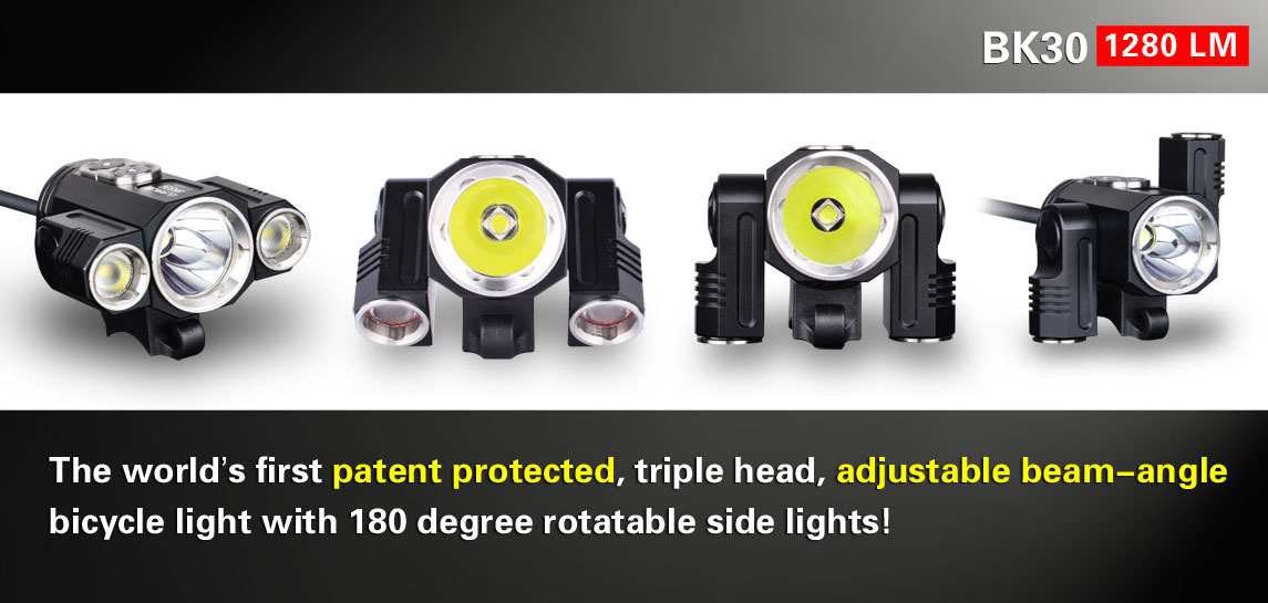 Bicycle light with 180 degree rotable side light-Klarus BK30