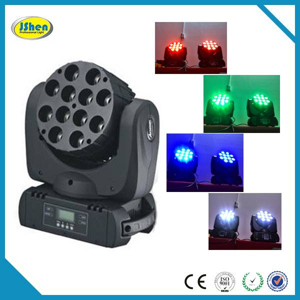 Factory direct offer 12*10w 4in1 RGBW Led Moving Head Beam Light