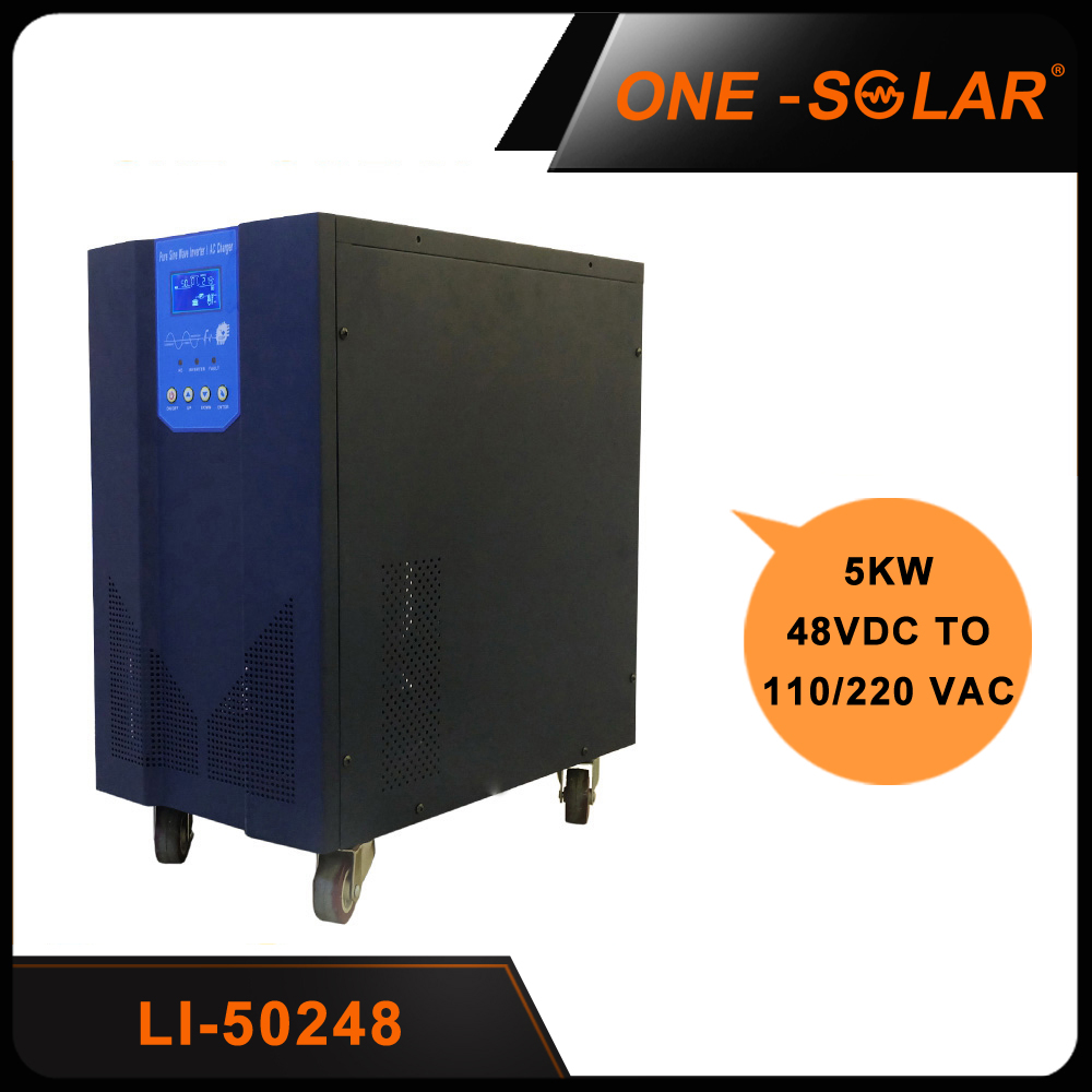 Off Grid UPS Inverter 5000w 48v with battery charger and 64-bits DSP