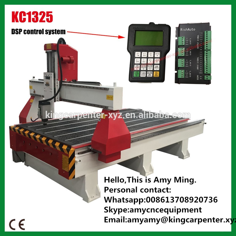 3d wood cnc router KC1325 in high quality with CE