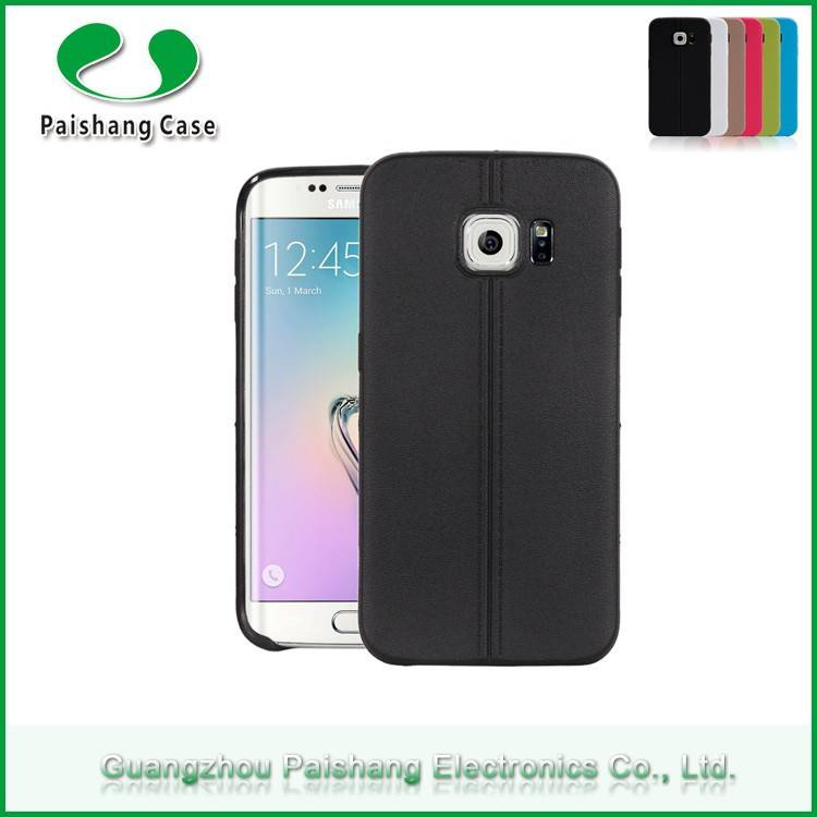 2015 unique TPU free sample mobile phone case two line style Case For Samsung galaxy S6 edge