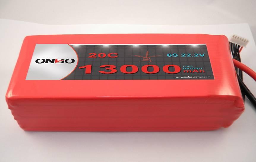 ONBO 13000MAH 20C-6S1P 22.2V LIPO BATTERY FOR DJI S900 Multi-rotor
