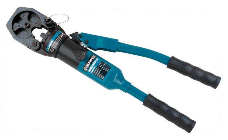 Hydraulic crimping tool Safety system inside KDG-200