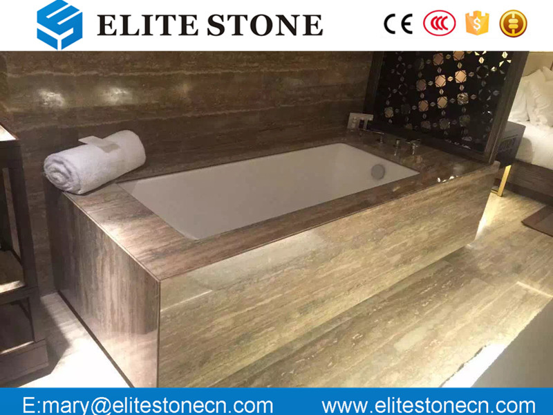 Italy Silver Grey Travertine marble floor and wall tiles in factory prices