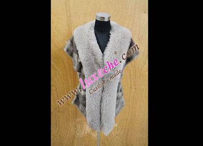 sell whole america & euro mink vest 100% handwork ,custom made coat products