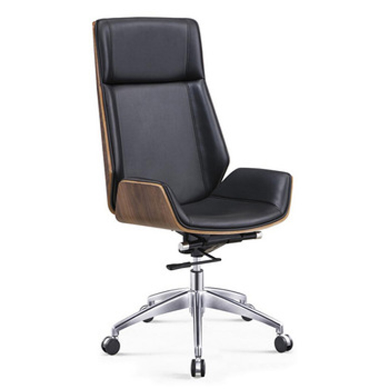 Fashionable Luxury Bent Wooden PU Leather Executive Chair for Commercial Furniture