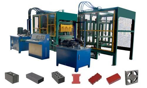 Automatic cement brick making machine