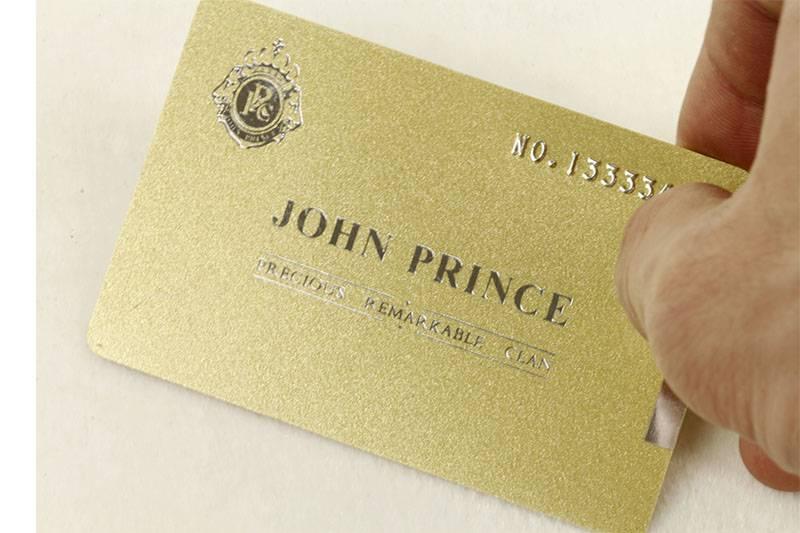 Gold metallic card
