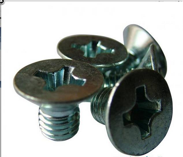 PHIL COUNTERSUNK FLAT HEAD MACHINE SCREW