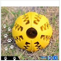 Large Ball Dog Puppy Play Chew Treat Training Bone Squeaky Toy
