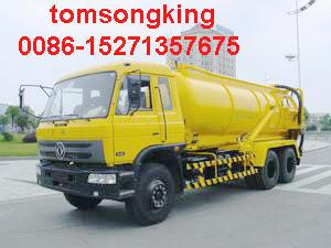 25T Vacuum Sewage Suction Truck vacuum tanker Jetting truck septic tank
