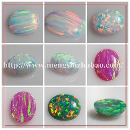 Wuzhou Factory Supply Custom-made Oval cabochon opal for Silver Ring
