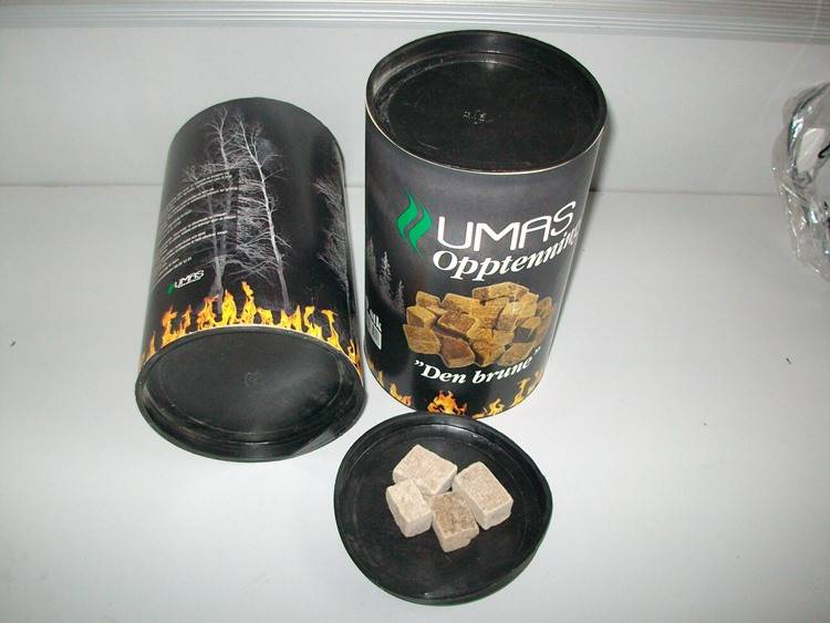 Factory Supply Wood and Wax Fire Starter Cubes, BBQ Firelighters