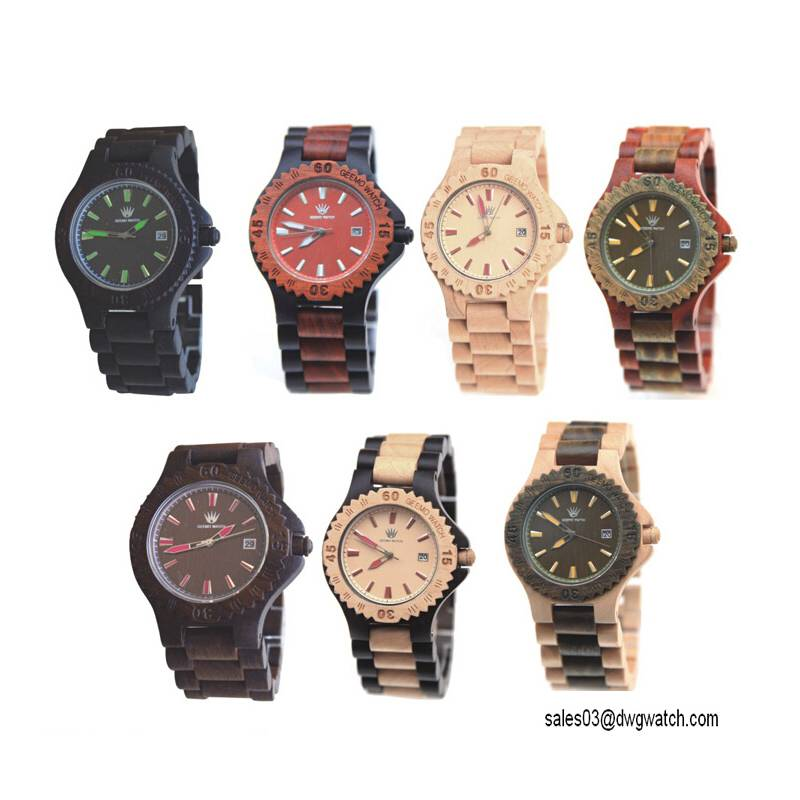 High Quality New Design Wood Material Fashion Watch