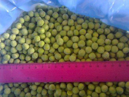 Frozen green peas blanched